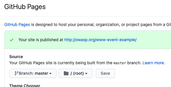 Event Site GitHub Pages Source Image