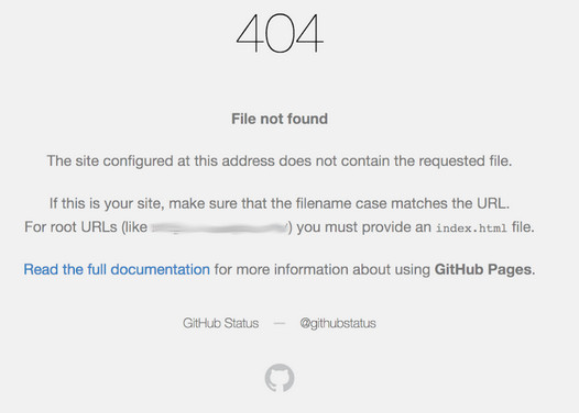 GitHub 404 File Not Found response